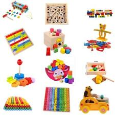 Kids Wood Educational Toy Math Multiplication Table Kid Number Block Puzzle Game