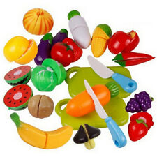 Fruit Role Play Fruit Vegetable Food Cutting Set Reusable New Pretend Kitchen VC