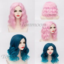 Fancydress Heat Resistant Curly Medium Anime Cosplay Synthetic Lolita Full Wig