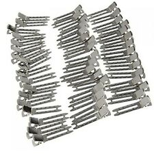 WINOMO Hairpins for DIY Hair Bows Double Prong Metal Alligator Clips 50pcs (Silv