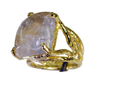 Rutilated Quartz Copper Ring L-1in shapely Multi supply AU K,M,O,Q