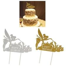 Lot of 10pcs Angel Happy Birthday Cupcake Picks Cake Toppers Baby Shower