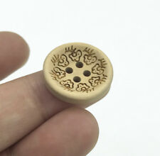 Wood color 4-hole Wooden Buttons Fit Sewing scrapbooking decoration clothes 20mm