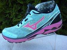 MIZUNO Wave Rider 16 Womens US Size W7 Pink Teal Running Yoga Shoe 8KN-30365