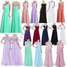 Women's Formal Chiffon Evening Ball Gown Cocktail Party Wedding Bridesmaid Dress