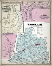1877 Map of Salem Township Clarion County Pennsylvania Oil Wells