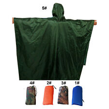 Outdoor 3 in 1 Military Raincoat Poncho Backpack Rain Cover Tent Mat Waterproof
