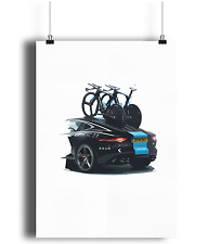 Team Sky Jaguar and Pinarello Bolide bicycle prints  cycling Wh