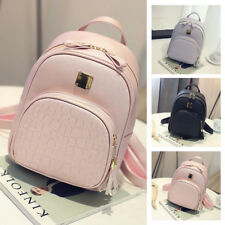 Fashion Women Girl School PU Leather Shoulder Bag Backpack Travel Rucksack Purs