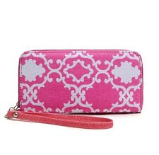 New Fashion Lady Women Quatrefoil Clutch Wallet Long Card Holder Purse Handbag