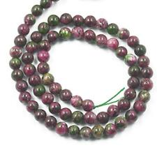 "6mm 8mm 10mm Red Green Ruby Zoisite Round Gemstone Loose Beads 15 ""Strand"