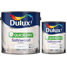 Dulux Quick Dry Satinwood - Pure Brilliant White Midsheen, Low Odour