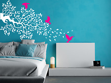 Tree Branches Birds Wall Window Art Decor Decal Removable Vinyl Sticker Nature