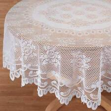 Lace Tablecloth Dining Table Cover Cloth Round Tablecloths Oblong Polyester New