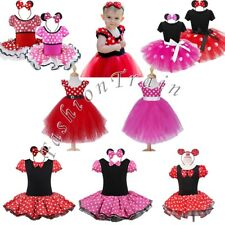 Baby Girls Kids Minnie Mouse Party Tutu Dress Cosplay Costume Ballet Tulle Skirt