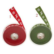 20m Red/Green Sewing Crafts Trim Ribbon Cotton Gift Wrapping for Christmas Decor