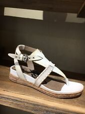 Ladies OTBT Celestial Off White Clay Leather Thong Sandal