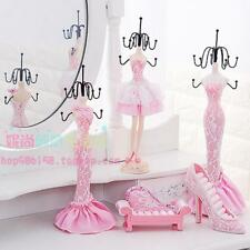 Pink Shoe Dress Mannequin Necklace Ring Jewelry Holder Organizer Display Hanging