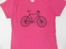Womens Fitted Hot Pink Vintage Mountain Bike T shirt. The MTB life, is good. NWT