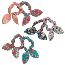 2x Floral Print Scrunchies Endless  Hair Elastic Bobble Ponies Pony Tail