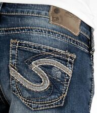 NEW SILVER Jeans Sale Buckle Mid Rise Aiko Bootcut Stretch Jean 33 X 29