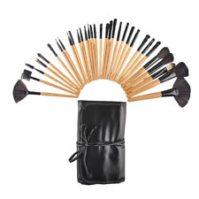 32Pcs Professional Face Makeup Brush Set Black Leather Bag Make Up Brushes Set