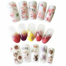 Beauty 3D Colorful Decal Flower Stickers Nail Art Tips DIY Decoration