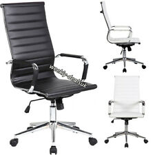 Ergonomic Modern High Back Computer Executive Office Chair Padded Leather Swivel