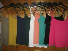 BN LADIES EX MARKS AND SPENCER CAMI VEST TOP VARIOUS COLOURS SIZES 8-22