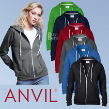 Anvil LADIES HOODIE ZIPPED SWEATSHIRT HOODED JACKET ZIP HOOD CASUAL STYLE OFFER