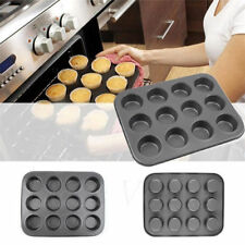 Silicone Non Stick 12 Cup Maker Tray Muffin Pan Baking Candy Jelly Mold Mould df