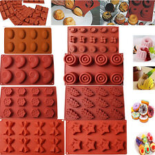 Silicone Mold Cake Muffin Pudding Mould Bakeware Chocolate Pan Baking Tray Tool