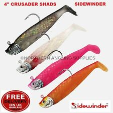 Sidewinder Crusader Shads - Cod Bass Wrasse Pollock Halibut Sea Fishing Lures