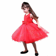 Flower Girl Dress Tulle Beaded Bridesmaid Wedding Communion Christmas Party