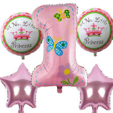 1st Happy Birthday Balloons Banner First Baby Boy Girl Party Decor Supplies 5pcs