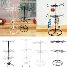 2/3 Tiers Iron Metal Rotating Hanging Rack Jewelry Necklace Bracelet Holder