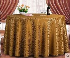 Gold Color Polyester Material Round Shape Table Cloth For Party Use