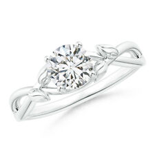 0.75 ctw Solitaire Round Diamond Engagement Ring 14k White Gold Size 3-13