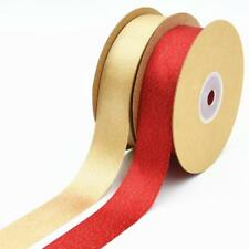 15 Meters Ornaments Trim Satin Ribbons Double Sided DIY Accessory Findings 25mm