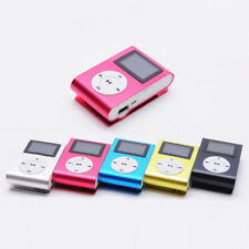 Mini Clip MP3 Player LCD Screen Support 32GB Micro SD TF Card Metal Music Player