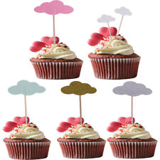 50pcs Cloud Cupcake Picks Cake Topper Flag Wedding Baby Shower Party Decorations