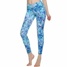 Women's Yoga Pants Leggings Printed Middle Waist Tights Tummy Control Fitness