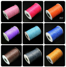 15m/lot 1MM Wax Cord Thread String Strap Jewelry Cord Findings for DIY Bracel...
