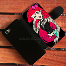 Punk Ariel Wallet iPhone cases Little mermaid Samsung Wallet Leather Phone Case