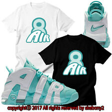 NEW CUSTOM TEE Nike Air More Uptempo matching T SHIRT UTP 1-9-22 ISLAND GREEN