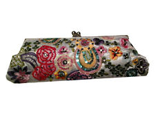 Beaded Floral Embroidery Clutch - Embroidered evening bags