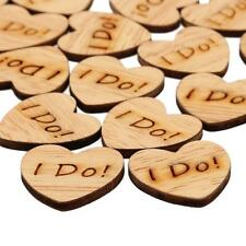 Lot of 50pcs Wooden Love Heart Table Confetti Scatter Wedding Table Decor Crafts