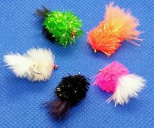 3 BLOB FRITZ Flies Marabou Tail Mini Lures Trout Fly Fishing #8,10,12 **DEADLY**
