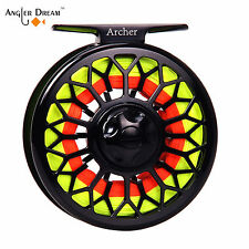 3/4 5/6 7/8WT Fly Reel CNC Machined Large Arbor Fly Fishing Reel Backing Leader