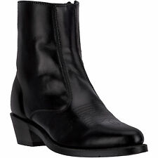 Laredo Mens Black All Leather Long Haul 7in Side Zip R Toe Cowboy Boots